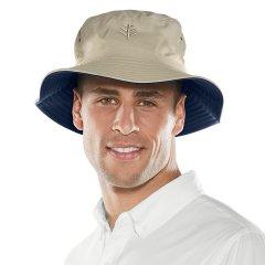 【美国专业防晒】Coolibar 可翻转内外佩戴男士防晒渔夫帽/盆帽/沙滩帽UPS 50+(四色可选) 02556图片