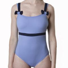 JOG/JOG AUVILLA 女士拼色肩带连体泳衣 129图片