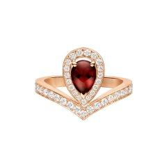 Chaumet/尚美女士玫瑰金色Joséphine 加冕·爱系列 白鹭主题 戒指083676图片