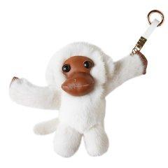 BeFurs/BeFurs钥匙扣鸿运当头 转运红脸狒狒 丹麦水貂皮草挂饰挂件3色图片
