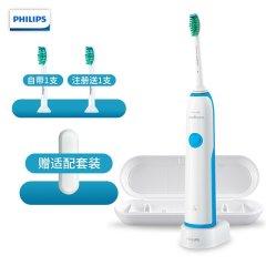 Philips/飞利浦 电动牙刷 成人声波震动(自带刷头*1) 清新洁净 HX3216/01图片