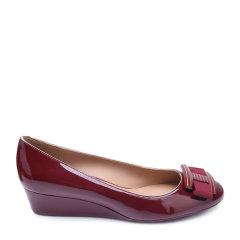 Salvatore Ferragamo/菲拉格慕袋鼠皮材质蝴蝶结装饰女士低/中跟鞋图片