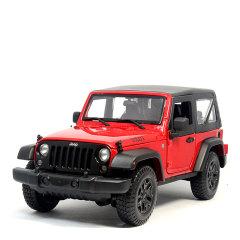 吉普jeep牧马人1:18越野车威利斯仿真合金汽车模型收藏摆件工艺礼品红色图片