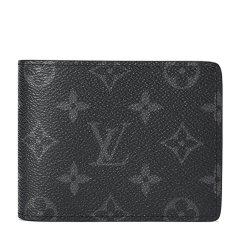 LouisVuitton/路易威登男士黑灰色老花短款钱夹Multiple帆布M61695(配LV礼品盒)图片