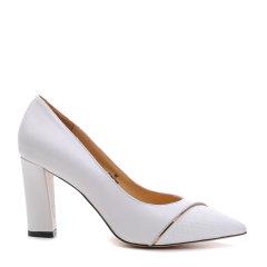 【春季折扣】【17春夏】BENATIVE/本那  皮质拼接金属拼色高跟鞋 BN01714827图片