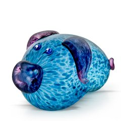 【奢品节可用券】Borowski | 博罗夫斯基 PORKY福寿猪 (蓝色/橘红色/玫瑰色) | 888限量销售 | 德国纯手工艺术玻璃图片