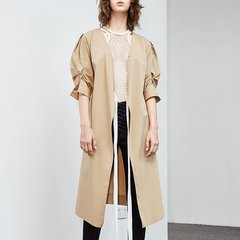 MO&Co./摩安珂女士连衣裙V领缝制腰带泡泡袖连衣裙MA182DRS142图片