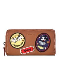 COACH/蔻驰 女士Saffiano皮革 迪士尼系列长款拉链钱包钱夹 59340(个别轻微硌伤瑕疵)图片