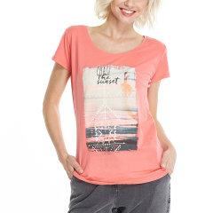 PROTEST/博特斯 2017新款夏装女款印花T恤圆领半袖图片