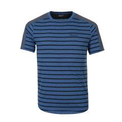 Marmot/土拨鼠春夏新款户外透气圆领吸湿排汗男式短袖T恤 S43670   吸湿排汗 速干功能 肩膀处梭织面料图片