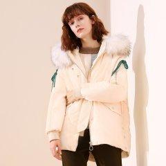 TATU/她图冬款韩版大毛领宽松百搭加厚女士羽绒服图片