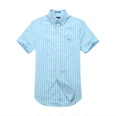 GANT/甘特 男士2017夏季新品时尚格纹纯棉短袖衬衫 男士短袖衬衫 303401图片