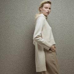 Zynni Cashmere 超舒适高级毛绒混纺时尚套头衫BL8152图片
