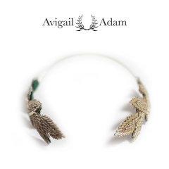 Avigail Adam美国纽约手工制造艺术风格首饰品牌女式Beaded系列串珠树叶女神发箍Beaded Leaves Goddess Headband图片