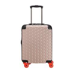 【国内现货】CARPISA/CARPISA 中性款式男女通用树脂/聚碳酸酯蜂窝状图案万向轮登机箱旅行箱行李箱拉杆箱 20寸图片