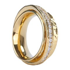 A&Y/A&Y 意大利设计 metal系列 女士S925银双环璀璨指环戒指图片