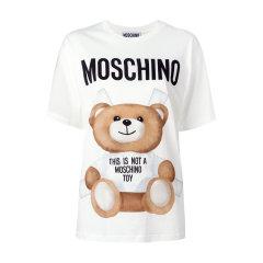 MOSCHINO/莫斯奇诺  【17年春夏新品】女士纯棉圆领短袖小熊字母T恤 【170308】图片