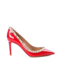 【18春夏】Valentino/华伦天奴 ROCKSTUD 牛漆皮铆钉尖头高跟鞋PW2S0A04VOD图片