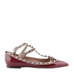 Valentino/华伦天奴 女士 牛皮 酒红色 平跟鞋 QW2S0376VNW   VA28310V6DBY79035图片