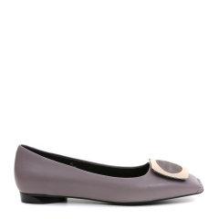 【17春夏】BENATIVE/本那 方扣胎牛皮金属装饰平跟鞋BN01711836图片