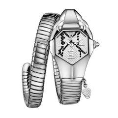 JUST CAVALLI/JUST CAVALLI【意大利设计师品牌】蛇形表缠绕女士手表钢带石英表时尚潮流女表女士石英表图片