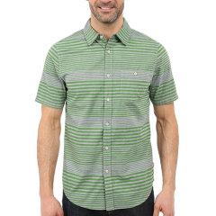 THE NORTH FACE/北面  户外男士条纹休闲翻领短袖衬衫图片