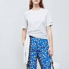 MO&Co./摩安珂女士短袖T恤2018夏季新品圆领刺绣短袖绑带T恤上衣MA182TEE224图片