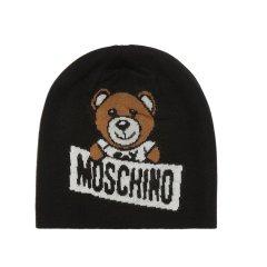 MOSCHINO/莫斯奇诺 2018秋冬新品男女同款羊毛腈纶泰迪熊帽子图片