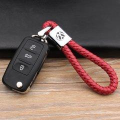 pinganzhe   汽车新款带车标钥匙扣 手编织真牛皮钥匙链 大众奔驰奥迪本田钥匙圈锁匙环 男士女士 创意 汽车用品图片