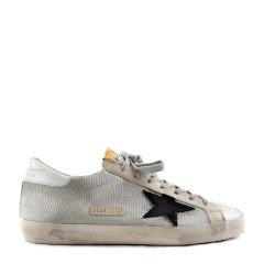 GOLDEN GOOSE DELUXE BRAND GGDB  男士白色灰尾皮革星星款休闲运动小脏鞋休闲运动鞋低帮板鞋系带男鞋小白鞋图片