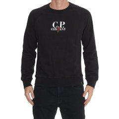 C.P. COMPANY/C.P. COMPANY 18年秋冬  圆领 男士 logo  黑色 男卫衣 05CMSS247A 005115W 392图片