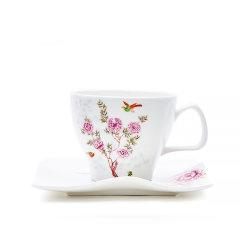 Miracle Dynasty/玛戈隆特 骨瓷 MD 中国花园海浪咖啡杯碟 2人份 骨瓷杯子碟子 创意简约 礼品礼盒包装图片