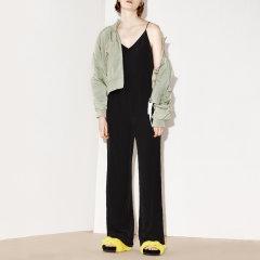MO&Co./摩安珂女士连体裤细吊带V领性感露背拉链纯色直筒连身裤女MA171JPS107图片