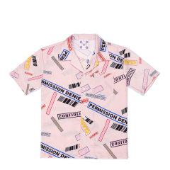 【DesignerWomenwear】5min/5min原创设计印花男女士短袖衬衫黄景瑜同款图片