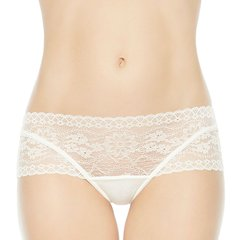 LAPERLA/萝贝拉女士ROSA系列舒适薄纱中腰平角内裤奢华刺绣蕾丝平角裤图片