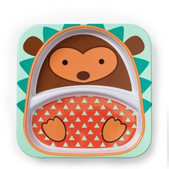 skip hop/skip hop  可爱动物园仿瓷防摔儿童餐盘 单个装 6个月以上宝宝  美国进口#