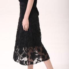 【DesignerWomenwear】YAWANGCHEN/YAWANGCHEN优雅提花A字裙女士半身裙图片