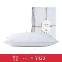 【预售】FOSSFLAKES 护颈枕 进口全棉舒适柔软超柔中高/中低枕头枕芯 + 进口枕套 48*74cm【发货时间2017年12月18日】图片