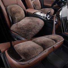 pinganzhe    汽车新款秋冬季澳洲进口纯羊毛带腰靠三件套坐垫 汽车羊毛毛绒座垫灰色. 全部图片