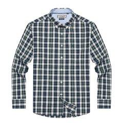 HAZZYS/哈吉斯秋冬新款都市休闲格子男士长袖衬衫ASCZK17CK40图片