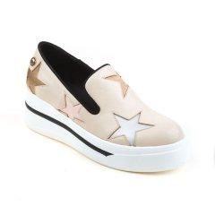Ozwear ugg/Ozwear ugg  女士休闲运动鞋  春夏新款 牛皮 圆头星星梦幻厚底松糕鞋图片