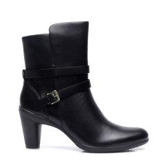COZY STEPS/COZY STEPS牛皮光面皮带扣女士靴子图片