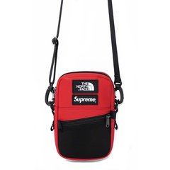 Supreme/Supreme  SUP&TNF联名款合作款18 AW  The North Face Leather Shoulder Bag 皮革尼龙 挎包/休闲包图片