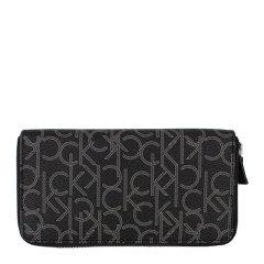 【免税】Calvin Klein/卡尔文·克莱因  男士LOGO字母印花拉链中长款手拿包钱包 79468图片