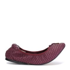 Cocorose 紫色仿蛇皮女士平跟鞋图片