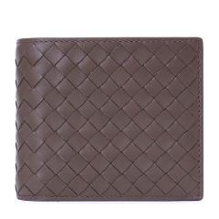 Bottega Veneta/葆蝶家牛皮材质经典编织包身男士短款钱包图片