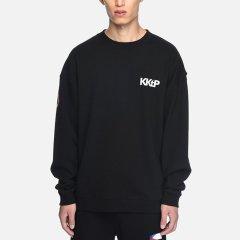 kktp 休闲卫衣 男士 黑色套头卫衣 潮牌上衣 宽松时尚卫衣图片