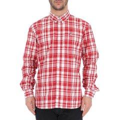 MAISON KITSUNÉ/MAISON KITSUNÉ 19年春夏 logo 男性 格子  红色 男士长袖衬衫 CM00403WC1104  REC图片