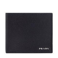 PRADA/普拉达 男士牛皮对折短款钱包钱夹2MO738 2E3E图片