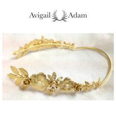 Avigail Adam美国纽约手工制造艺术风格首饰品牌女式Blooming系列繁花女神珍珠皇冠发箍Blooming Floral Crown Goddess Headband图片